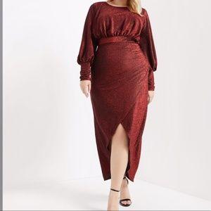 Eloquii Sparkle Maxi Dress NWT Size 16